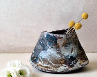 Ceramic Flower Vase,  Ceramic Vase, OOAK Table Centerpiece, Rustic Flower Vase, Kitchen Decor, Rustic Home Decor, Pottery Vase, Hostess Gift