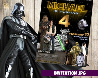 Star wars Invitation, star wars Party, star wars Birthday Invitation,  Boy star wars Invitation, star wars Theme Printables