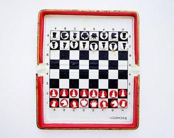 SIMZA travel magnetic russian soviet pocket chess