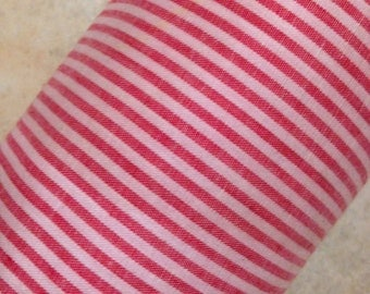 45 in wide Candy Stripe Red White Homespun Yardage Christmas Holiday Print NOS BTY