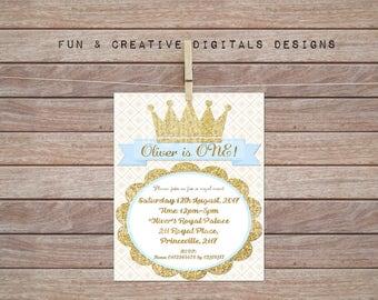 Prince Crown Invitation