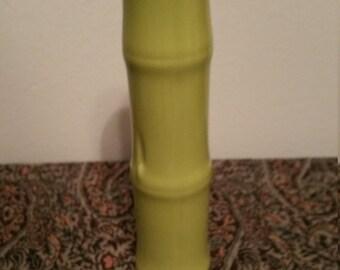 Celedon Bamboo Bud Vase  8 X 1,5