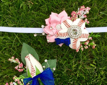 Baseball Corsage and Boutonniere Pair! Great for Prom! Prom Baseball Boutonniere and Prom Baseball Corsages