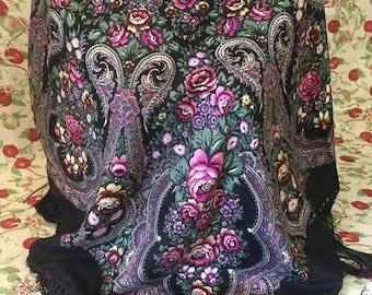 Ukrainian ethnic shawl