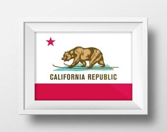 California Flag Print - Mammoth Style!
