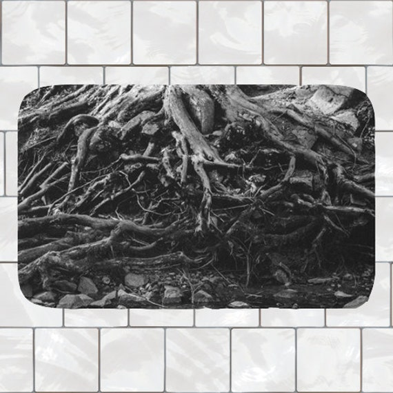 Black Bathmat Memory Foam Bath Mat Tree Bath Mat