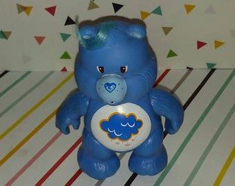 Vintage 1980s PVC Care Bears Grumpy Figure (Nice Graphic)