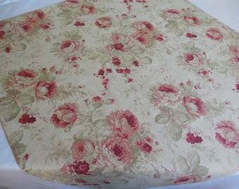 Vintage style tablecloth vintage table topper table overlay vintage wedding decor wedding table overlay roses table topper wedding linens