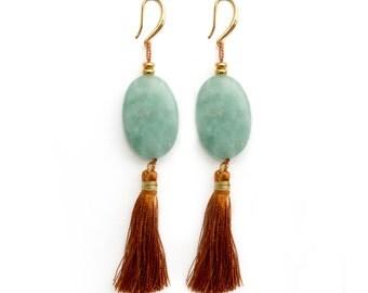 Salsa Earrings - Amazonite