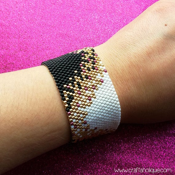beaded cuff bracelet instructions