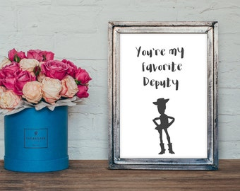 Toy story inspirational quote A4print nursery  decor -christening gift -kids room -childrens gift-house warming present - new home