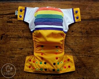 One Size Pocket Cloth Diaper - Wraparound : PRIDE