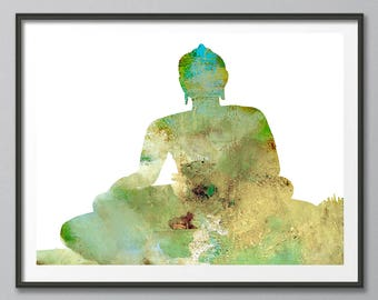 Buddha, Buddhist Skyline, India Skyline, Siddhartha Gautama, Buddha Art, Buddha Print, Buddha Wall Art, Yoga Print, Buddha Painting,