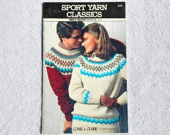 Vintage  Sport Yarn Classics Red Heart Book No. 271 By Coats & Clark