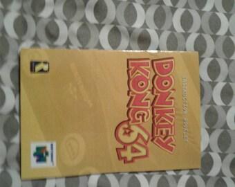 Donkey Kong N64 manual
