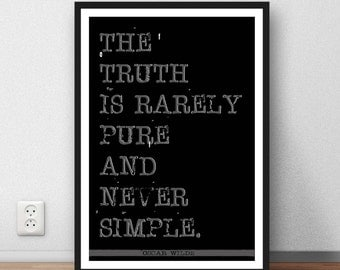Oscar Wilde Quote- The Truth... - Digital Download - wall art gift inspiration writing gift