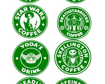 Funny starbucks coffee logos (SVG FILE ONLY)