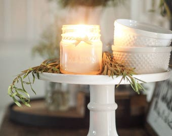 Sun + Sea, Hand Poured, All Natural Soy, Mason Jar Candle, Beach Candle