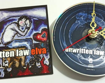 CD Clock Unwritten Law Elva Handmade Clock FREE U.S. SHIPPING