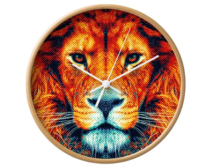 Lion Wall Clock - Colorful Animals