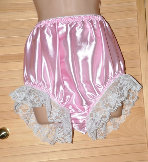 EE 42 - Soft satin panties, frilly & lacy sissy wear, Sissy Lingerie