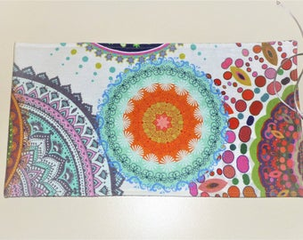 Tarot Card Bag, Mandela Tarot Card Wrap, Mandala Tarot Bag, Mandala Wrap, Mandala Tarot Card Pouch, Mandala Tarot Wrap, Velvet Tarot Bag