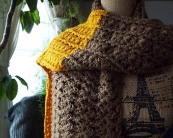 Crochet Long Handmade Scarf