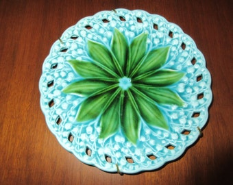 GERMANY ANTIQUE MAJOLICA Plate Wall Hanging