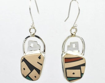 Taxco Drops Silver Earrings