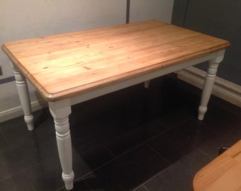 Furniture, farmhouse dining table, shabby chic, seats 6 people