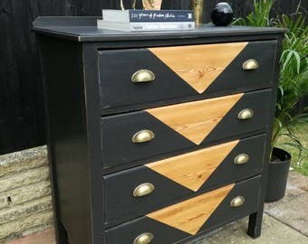 SOLD*** commissions taken Vintage industrial chest of drawers