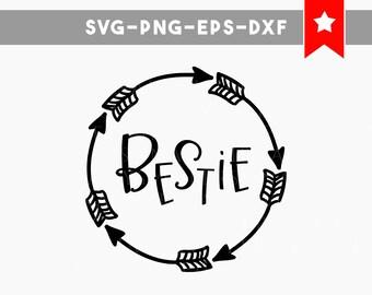 besties svg file, arrow svg, best friend svg, besties cut files, vinyl designs, best friends gifts, children clipart, tshirt designs, cricut