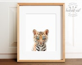 Baby tiger print, Safari animal prints, PRINTABLE nursery art, Safari nursery decor, Tiger cub, Safari animals, Nursery wall art, Animals