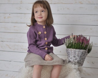 Hand knit baby sweater, cardigan, wool children sweater, hand knit alpaka silk sweater, knit toddler sweater, knitted baby/toddler clothes