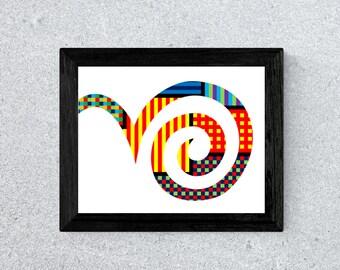 Bouncing Spiral Print