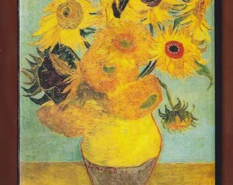 Van Gogh, Sunflowers, repetition of the 3rd version, Philadelphia Museum of Art, Philadelphia, United States.FREE SHIPPING