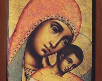 Simon Ushakov.Our Lady of Kykkos. Christian orthodox icon.Detail.FREE SHIPPING.