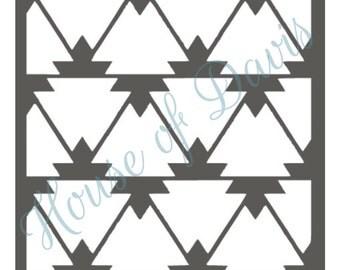 Aztec Stencil (Style 2) - 12x12