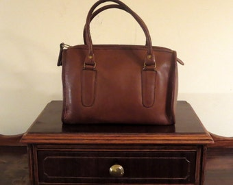 Coach Madison Satchel In British Tan Leather Style No. 9725- Made In The Factory In NYC- Very Nice