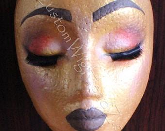 GHEL Custom made polystyrene wig Stand CustomWigHeadZ©