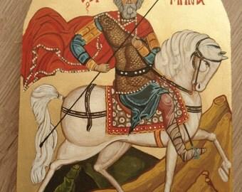 Saint  Menas,Orthodox icon, Byzantine art, Religious art