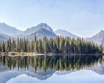 Mountain Landscape, Reflections, Mountain Photography, Canvas Art, Landscape Photograph, Mountain Landscape Art Print, Western Art Print