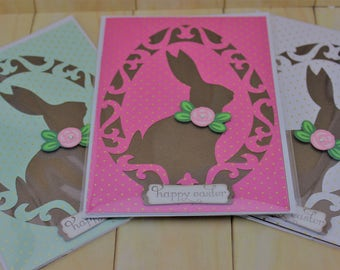 Happy Easter Card - Easter Bunny Card - Easter Card - Cricut Easter Card - Homemade Easter Card - Handmade Easter Card - Easter Greeting