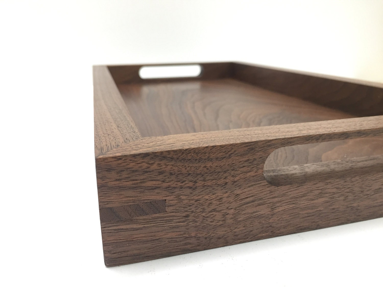 walnut tray  serving tray  ottoman tray  coffeetray  modern tray -