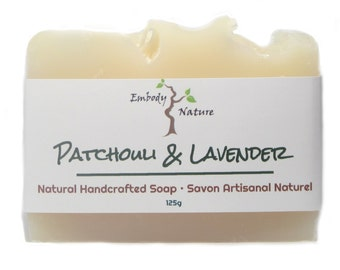 Patchouli & Lavender Soap, All Natural Soap, Lavender Soap, Patchouli Soap, Cold process soap