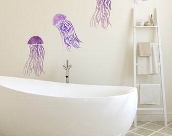 Medium or Large Mauve Stinger Jellyfish Stencil -  Reuseable Craft Home Decor Stencil