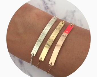 Skinny Bar Bracelet | Name Bar Bracelet | Everyday Bracelet | Gold Bar Bracelet | Delicate Bar Bracelet | Thin Bar Bracelet| Dainty Bracelet