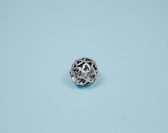 Full of Love -- Heart Bead for Pandora Charm Bracelets