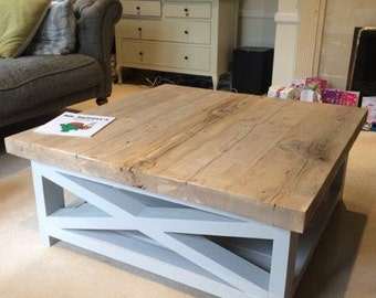 reclaimed wood coffee table | etsy uk