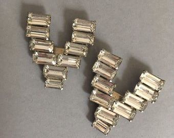 1920s rhinestone shoe clips